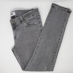 Paige Peg Skinny Distressed  Ankle Jeans Gray